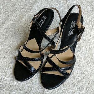 Michael Kors Black Snakeskin Heels